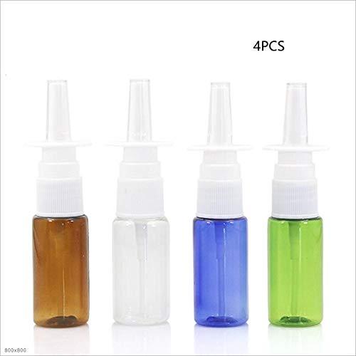 Love lamp 4pcs de Pet coloré Vide Bouteille en Plastique Spray Nasal Bouteilles Pompe du pulvérisateur Mist Nez Vaporiser Bouteilles rechargées (Specifications : 15ml)