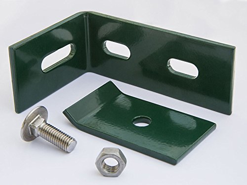 Wandanschlusswinkel Winkel Verbinder in Grün 100x65 Zaun Gittermattenhalter
