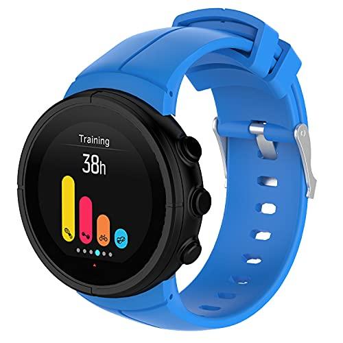 Gransho Repuesto de Correa de Reloj de Silicona Compatible con Suunto Spartan Ultra, Caucho Fácil de Abrochar para Relojes y Smartwatch (Pattern 6)