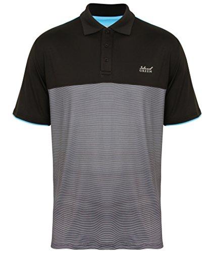 Island Green Golf IGTS1647 Mannen Katoen Contrast Panel Polo Shirt Sport Top, Apple, Groot