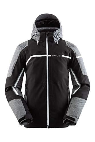 Spyder Herren Titan GTX I Wintersport-Jacke aus Gore-Tex I wasserdicht und atmungsaktiv Skijacke, Black Ebony, XL