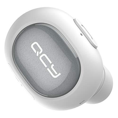 QCY Q26 Bluetooth4.1 ワイヤレスイヤホン 白 ミニサイズ 片耳タイプ 軽量 ハンズフリー マイク内蔵 通話 ...