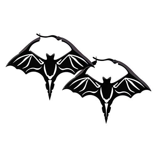 Wildcat Bat Hoops Frauen Ohrring schwarz Edelstahl Fashion & Style, Gothic
