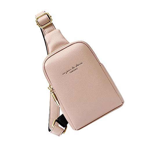 Amosfun fanny for pack women belt bag plus size waist st bags holographic packs patricks bum day party - PU Waist Bag Shoulder Fashionable Bags Women Girls Lady (Pink)