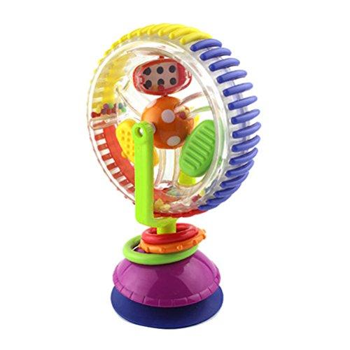 YeahiBaby Babyrassel Riesenrad Spielzeug Windmühle Spielzeug für Baby Stuhl Kinderwagen Sucker Spielzeug mit Saugnapf
