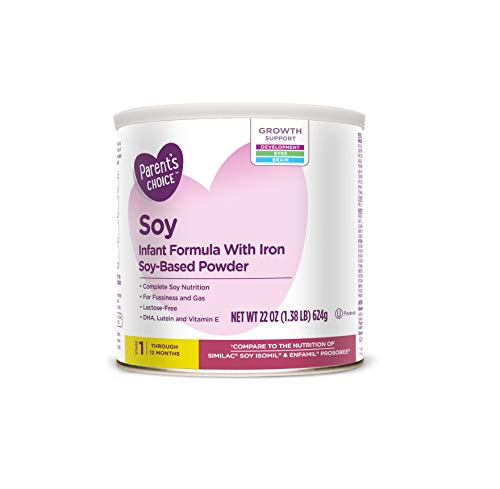 PACK OF 3 – Parent's Choice Soy Powder Infant Formula with Iron, 22 oz