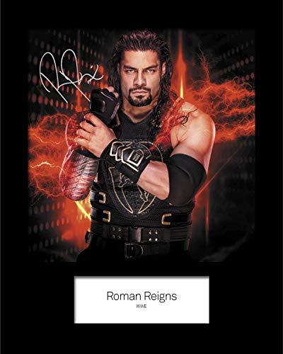 FRAME SMART Roman Reigns WWE #4   Signierter Fotodruck   10x8 Größe passt 10x8 Zoll Rahmen   Maschinenschnitt   Fotoanzeige   Geschenk Sammlerstück