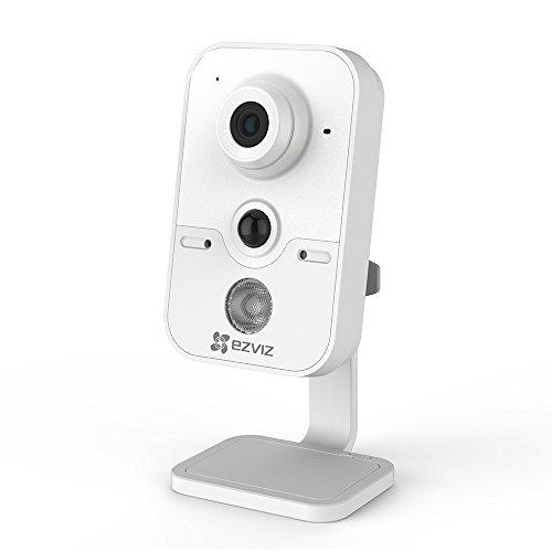 Ezviz C2Cube, draadloos, IP-camera, 720P HD, 2,4 GHz, WLAN, binnen, videobewaking, met microfoon en luidspreker, slot voor SD-kaart, PIR-sensor, nachtzicht, cloud-diensten beschikbaar