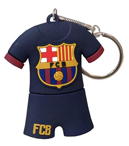 Futbol Club Barcelona- Pendrive rubber con forma de camiseta, Color azul, 8gb (CYP Imports USB-03-BC)