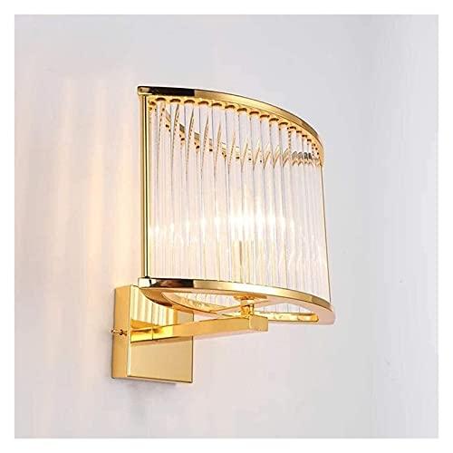 CMMT lámpara de Pared Lámpara de Pared Moderna Impermeable Lámpara de Pared de Metal de Dormitorio de Moda Lámpara de Pared Decorativa de Vidrio Aplique de Pared