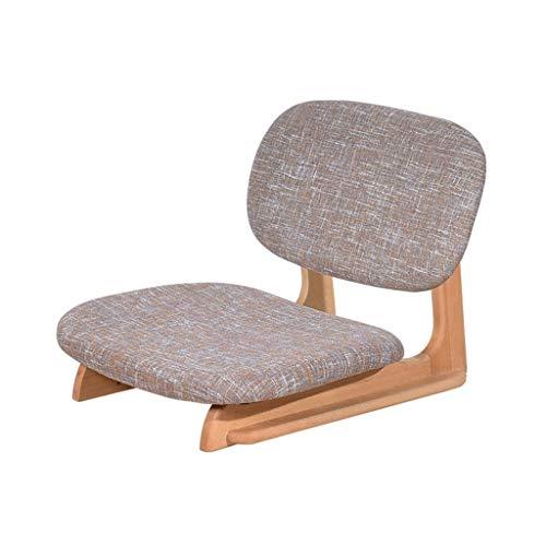 Duan hai rong DHR-Sitzsäcke Japanischer Bodenstuhl, Holz Buche Tatami Stuhl Meditation Sitz, Ergonomie Bodenrückenlehne Stuhl, for Meditation, Seminare, Lesen, Fernsehen oder Gaming