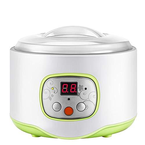 LCDYMini Máquina De Yogurt Inteligente, Máquina De Fermentación Natto Multifuncional De Acero Inoxidable con Revestimiento De Vino De Arroz, Hogar De Oficina,Rosado