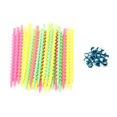PENG 26 Pcs Long en Plastique Styling Salon De Coiffure Outil De Coiffure Spirale Cheveux Perm Tige