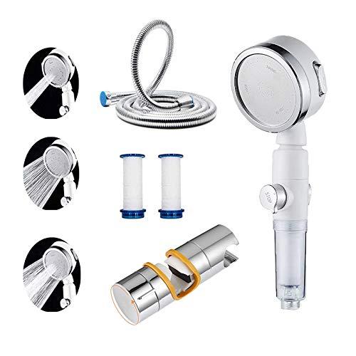 Hochdruck-Duschkopf für niedrigen Wasserdruck mit Edelstahlschlauch Duschhalterung Universeller Multifunktions-Duschkopf mit Ein / Aus-Schalter Filterdusche von AnkleStudio