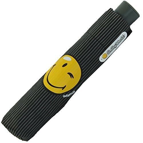 Smiley World - Mini Automatik Schirm - streif Black