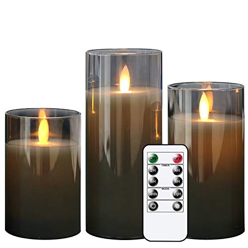 GenSwin LED Flameless Flickering Battery Operated Candles