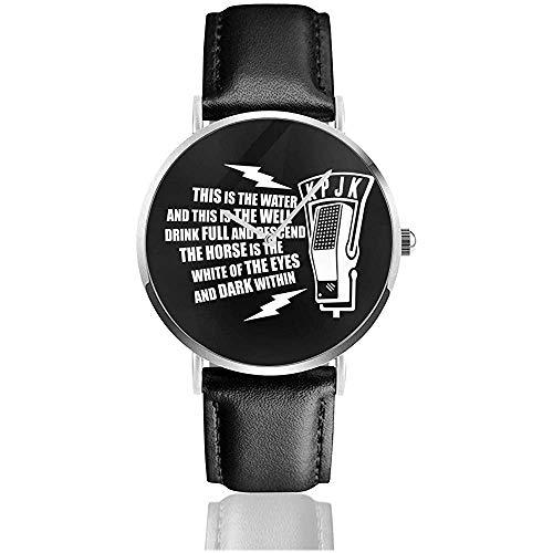 Unisex Business Casual Dies ist das Wasser Zitat Twin Peaks Uhren Quarz Leder Uhr