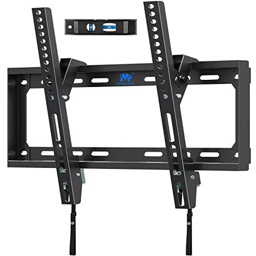 Mounting Dream TV Wall Mounts Tilting Bracket for 26-55 Inch LED, LCD TVs up to VESA 400 x 400mm and 88 LBS Loading Capacity, TV Mount with Unique Strap Design for Easily Lock and Release MD2268-MK