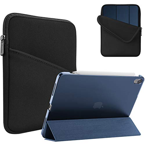 ProCase for iPad Air 4 10.9 Case 2020 with Protective Sleeve Bag, Slim Hard Back Shell Smart Cover + Shockproof Sleeve Case –Navy