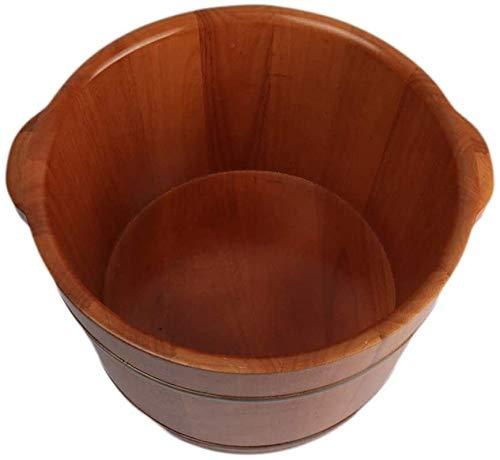 QIANSHI Détails décident la qualité Bain de Pieds Bain, favoriser la Circulation Sanguine Bain de Pieds avec Couvercle, Chêne Artisanale des Pieds, Chaud Partout