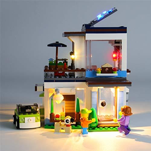 Juego de luces LED para Creator Casa Modular Moderna Modelo de Bloques de Construcción, Kit de Iluminación LED para Lego 31068 (Modelo Lego no incluido)