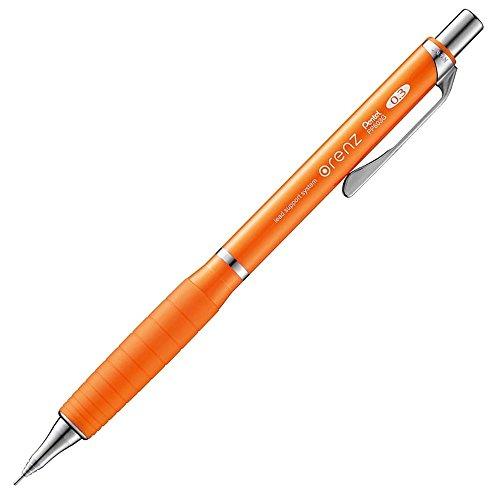 ぺんてる シャープペンシル オレンズラバーグリップ付き XPP603G-F オレンジ軸 0.3mm