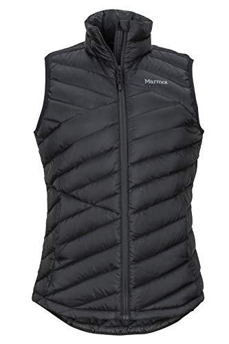 Marmot Damen Wm's Highlander Vest Ultra-leichte Daunenweste, 700 Fill-Power, Warme Outdoorweste, Wasserabweisend, Winddicht, Black, M