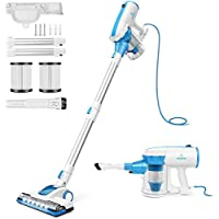 MOOSOO 4 in 1 Stick Vacuum 17000pa Powerful Suction, with LED Electric Brush Large-Capacity Dust Cup Vacuum Cleaner