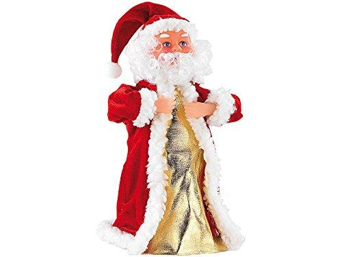 infactory Singender Nikolaus: Singender, Tanzender Weihnachtsmann Swinging Santa, 28 cm (Tanzender Weihnachtsmann mit Musik)