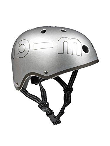 Micro Casque Vélo et Trottinette Gris Métallisé Small