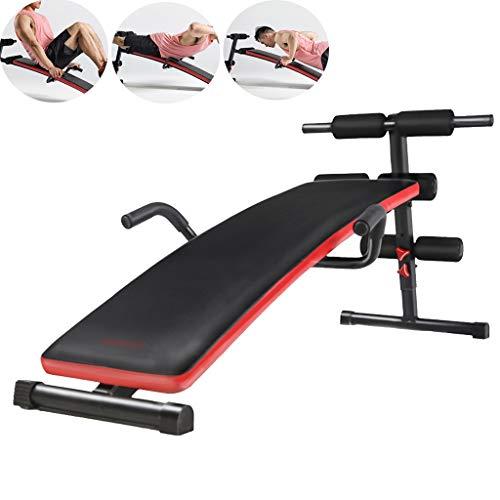 ZYCSKTL ABS Fitnessgeräte Indoor-Sitzhilfen, Fitnessgeräte für Bauchmuskelübungen zu Hause, höhenverstellbare Hantelbänke für Fitnessstudios (Color : Black, Size : 33 * 70 * 140cm)
