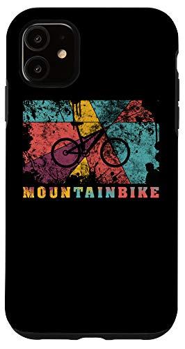 iPhone 11 Mountain Biking Pop Art Color Splash Effect MTB Fully Case