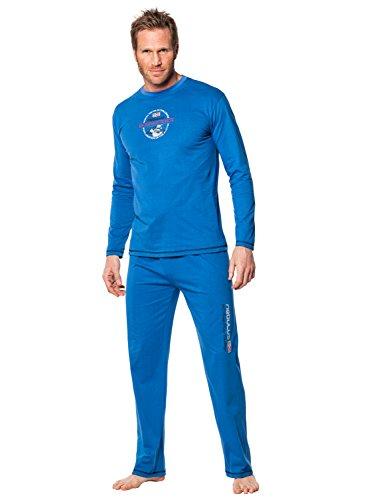 Nebulus Schlafanzug Sleeper, Pyjama, blau, Herren, Größe M (Q939)