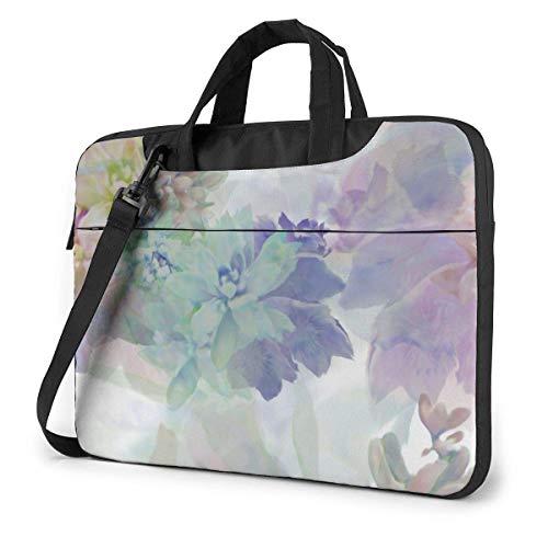 Neoprene Laptop Sleeve Case, Chinese Pastel Portable Laptop Bag Business Laptop Shoulder Messenger Bag Protective Bag 15.6 Inch