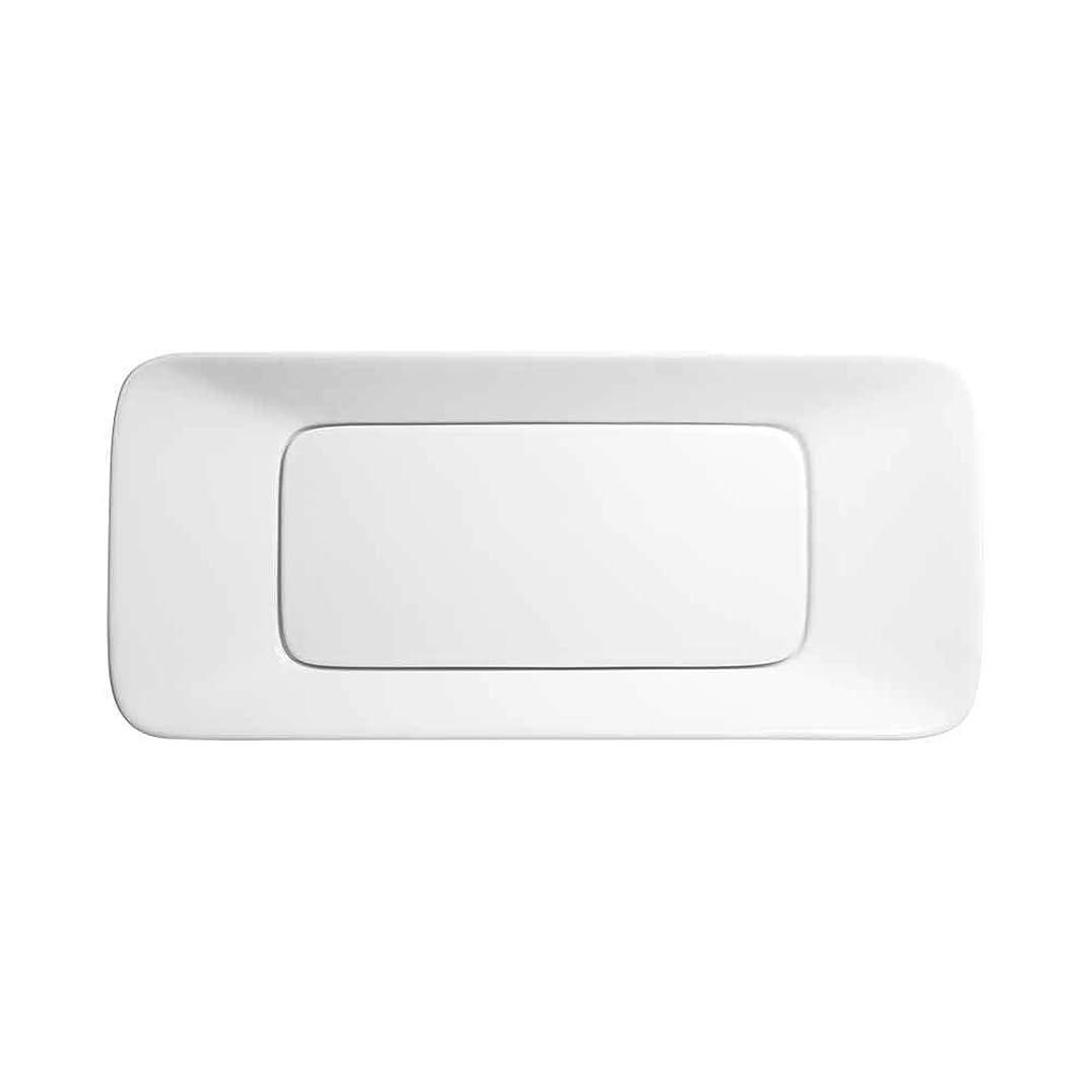 コントローラ欠乏なす31インチ レベル 長方形 セラミック製 カウンター上 オーバーフローなし ホワイト