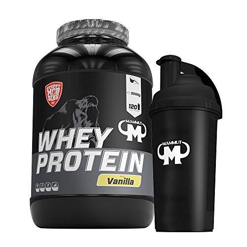 3kg Mammut Whey Protein Eiweißshake - Set inkl. Protein Shaker oder Powderbank (Vanilla, Gratis Mammut Shaker)