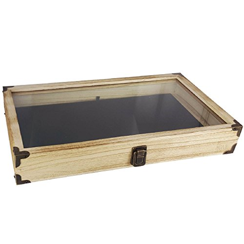 small display case wood - 2