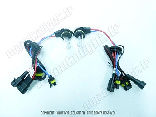 2 ampoules Xénon H12-6000K - 35W de rechange pour Kit Xénon HID