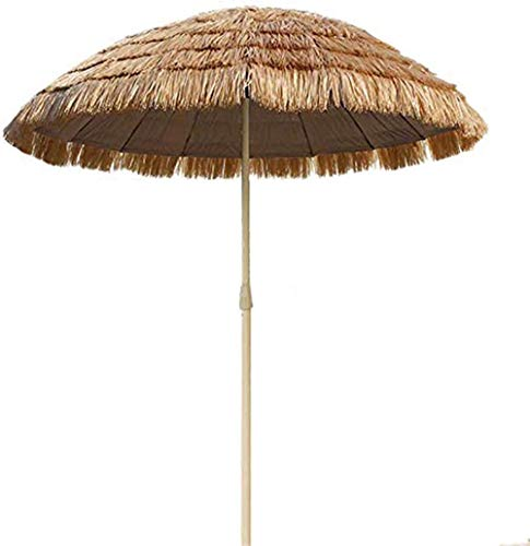 LHYLHY Sombrilla  Nuevo Paraguas de Hawaii  Sombrilla de protección Solar  Rafia Rafia  Sand Straw Umbrella Cafe Store Patio Piscina  Pantalla de protección UV