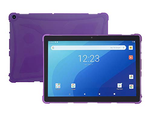 iShoppingdeals Protective TPU Cover Case for Onn Pro 10.1' Android Tablet 2020 Release (Purple)
