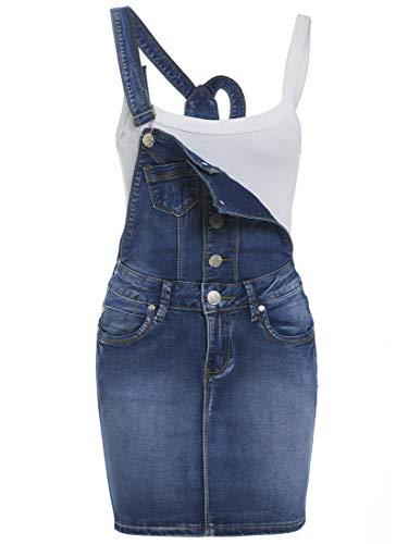 SS7 NEU Damen Jeans Latzhose Kleid, mittel blau, sizes 8 to 14 - Mitte Blau, 38