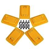 5 paquetes de herramientas de montaje para taladro Dewalt 20 V, 12 V, también apto para soporte de herramientas Milwaukee M18, colgador (lote de 5, amarillo)