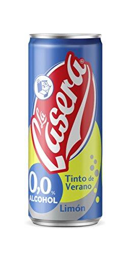 La Casera Tinto Verano Limon 0% alcohol - Paquete de 24 botellas de 33 - Total 792 cl