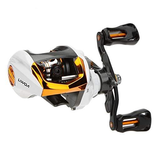 HAIYOUSHANGMAO Fishing Reel Carrete De Pesca De Lanzamiento De Cebo 12 + 1 Rodamientos De Bolas Carrete De Pesca De Alta Velocidad con Sistema De Freno Magnético (Color : Gold, Use Mode : Right Hand)