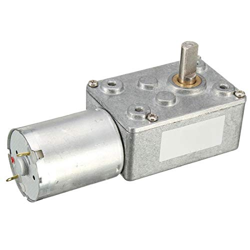DSENIW QIDOFAN Motor 12V 12 RPM JGY370 Gusano Turbo Motor del Engranaje de ángulo Recto del Motor del Engranaje del Metal de la Caja de Cambios