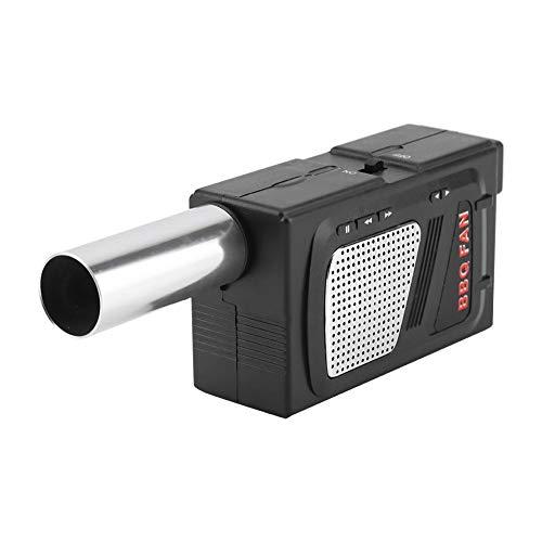 Ventilador Portátil para Barbacoa Soplador de Aire Ventilador de Barbacoa Eléctrico para Al Aire Libre Cámping Cocinando Picnic Parrilla Herramienta de Barbacoa USB Recargable y Ligero