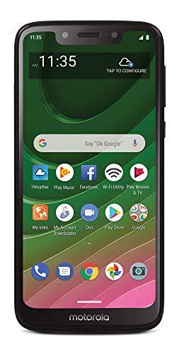 Total Wireless Motorola Moto G7 Optimo 4G LTE Prepaid Smartphone (Locked) - Black - 32GB - Sim Card Included - CDMA