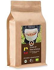 Koffie Globetrotter - Bio Colombia Excelso EP Finca la Lindura - 1000 g gemalen - voor volautomatische koffiezetapparaten, koffiemolens, handmolens - Topkwaliteit koffie - Gebrande koffie uit biologische landbouw