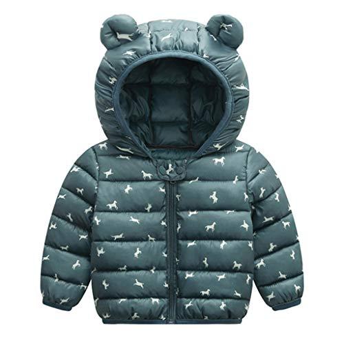Fulltime (TM) - Abrigo de invierno para bebé, diseño de dibujos animados, resistente al viento, con capucha