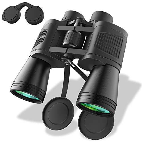 Zvpod Fernglas 12x50 - Ferngläser Klein Kompakt HD Teleskop Feldstecher Wasserdicht mit Schwach Nachtsicht für Erwachsene Kinder Vogelbeobachtung Jagd Wandern Safari Sightseeing mit Tasche und Gurt